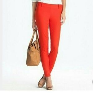 J CREW Winnie Pull on Stretch Coral Ankle Pant 10P